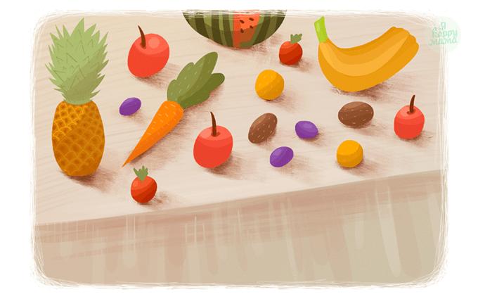 Стихи про овощи и фрукты для детей