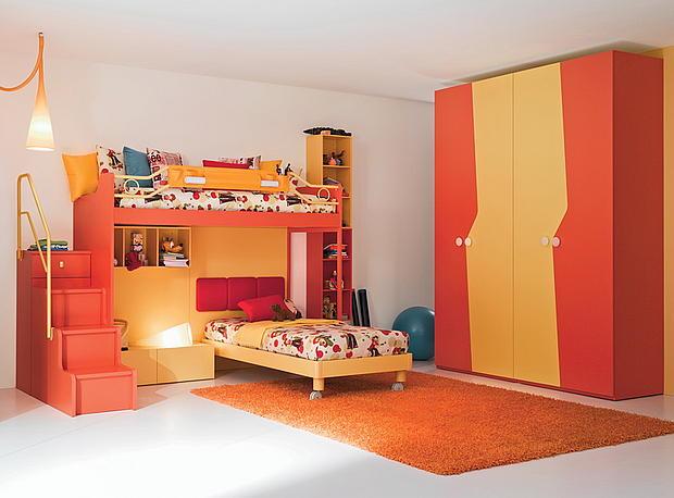 Детская-комната-в-оранжевых-тонах