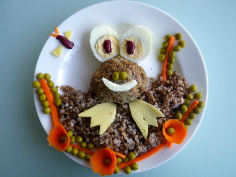 Украшение детских блюд 5