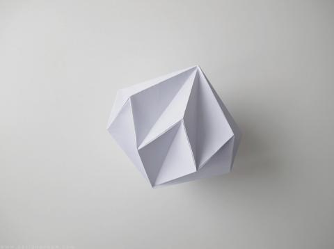 Делаем бумажные бриллианты. Пошаговое оригами
