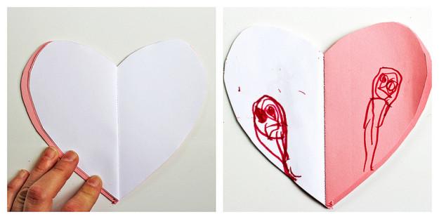 сердечки блокноты