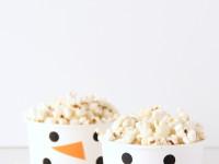 Чашки-снеговики для чипсов и поп-корна