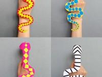 Делаем бумажные игрушки на пальчики