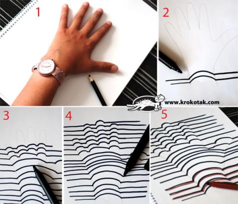 Рисуем с детьми объемные изображения