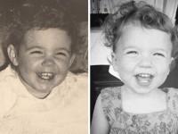 Фотографии детей и их родителей в одинаковом возрасте