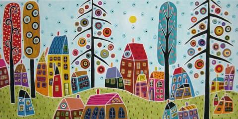 Живопись Карлы Жерар и раскраски по ее мотивам