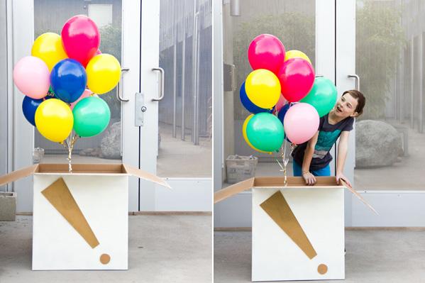 Коробка сюрприз своими руками с шарами 57