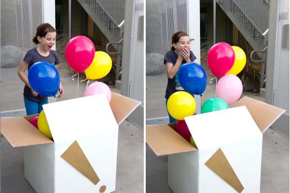Коробка сюрприз своими руками с шарами 355