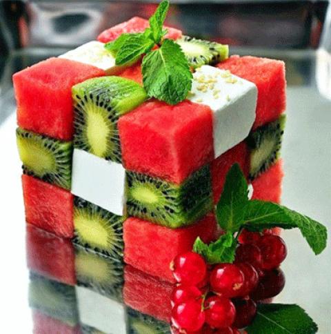Оригинальная подача фруктов на детский праздник