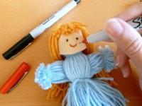 Кукла из ниток своими руками