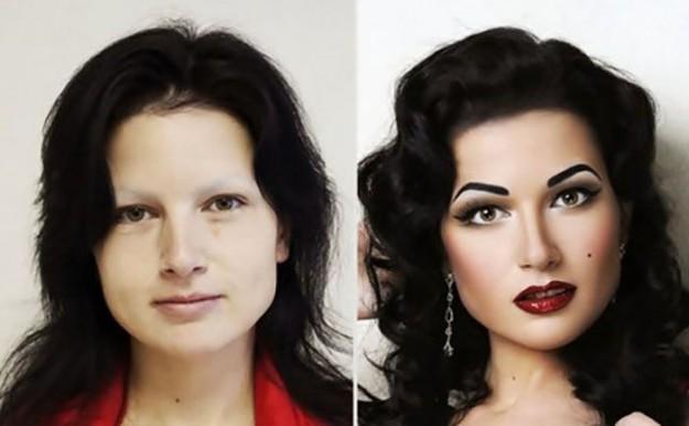 как макияж меняет людей
