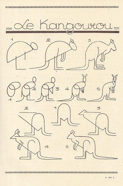 рисуем кенгуру