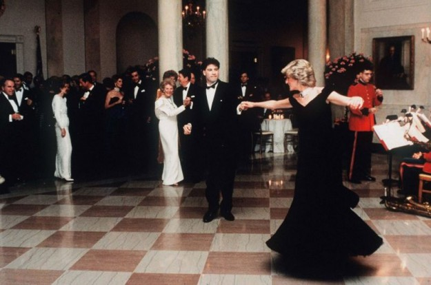 Принцесса и Джон Траволта в Белом доме, 1985