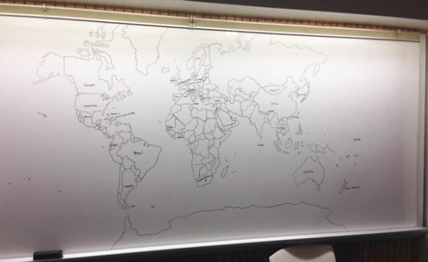 аутист нарисовал карту