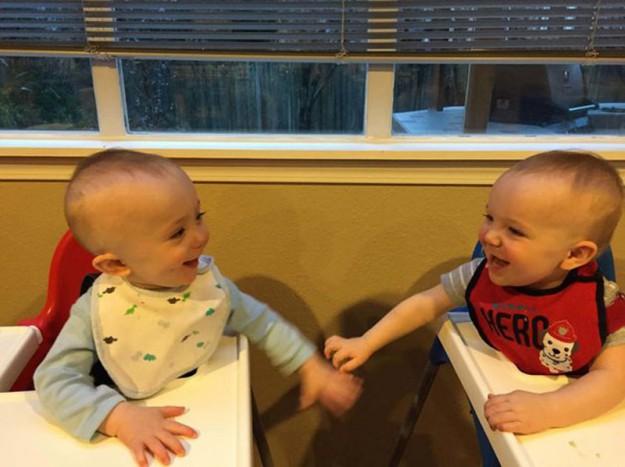 близнецы в коляске