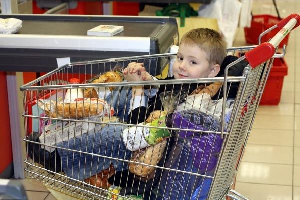 на шопинг с ребенком