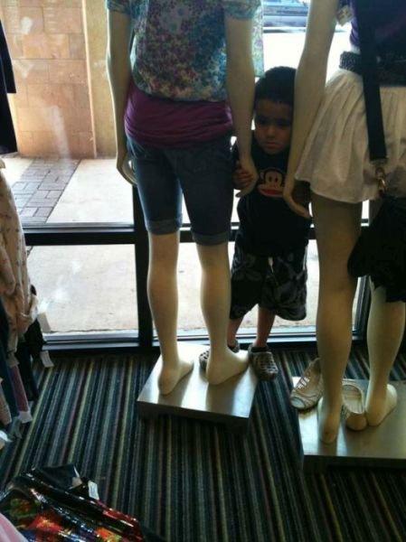 с ребенком на шопинг