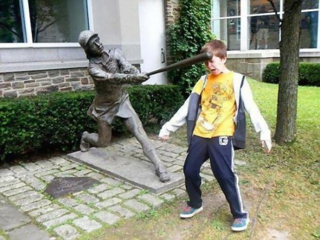 смешніе фото детей и памятников