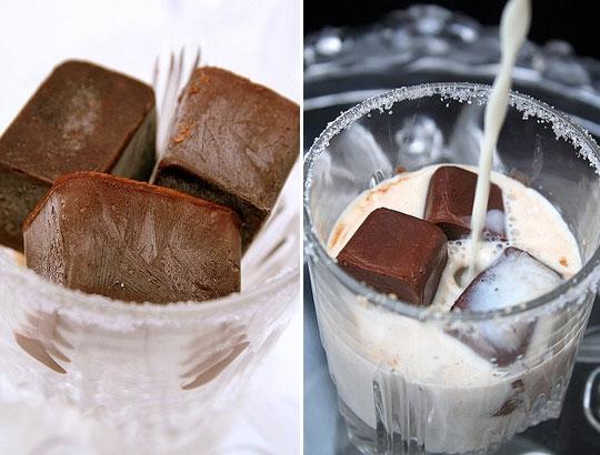 заморозить шоколад