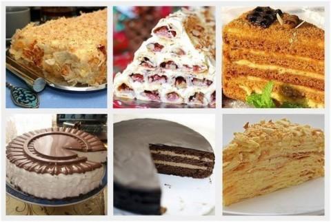 5 самых популярных тортов. Рецепты