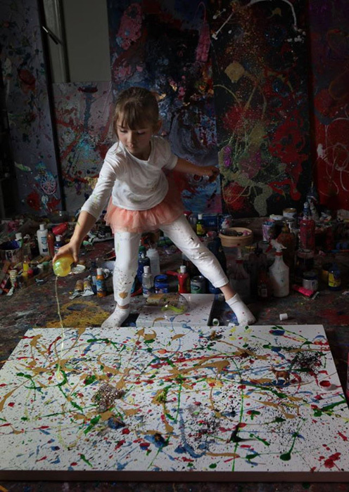 девочка художница