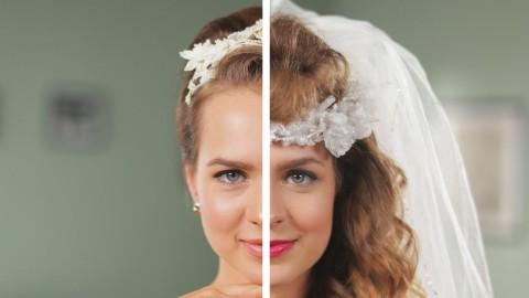 Видео, которое вдохновит многих невест и не только. Свадебные прически последних 50 лет