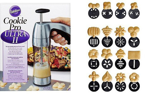 Кондитерский шприц с разными формами для печенья