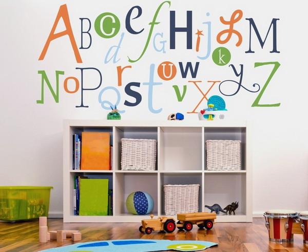 Childrens alphabet wall stickers