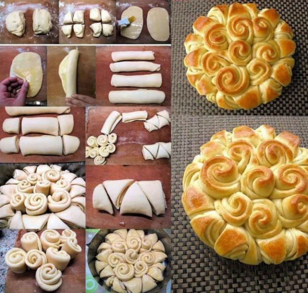 Пирог с розами