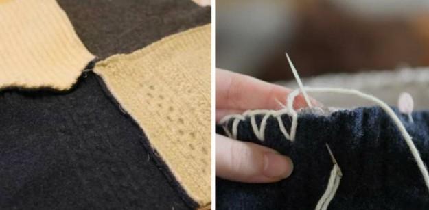 Плед из разных свитеров3