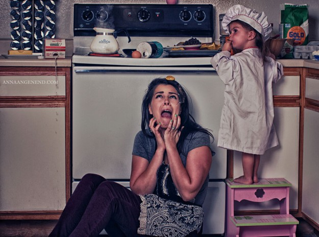обратная сторона мамы