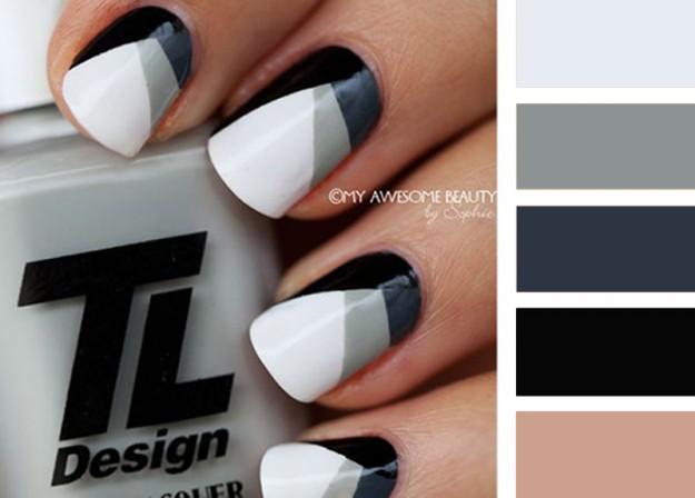 Черный + серый + белый