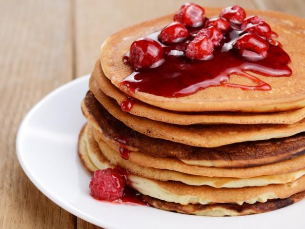 панкейки на завтрак
