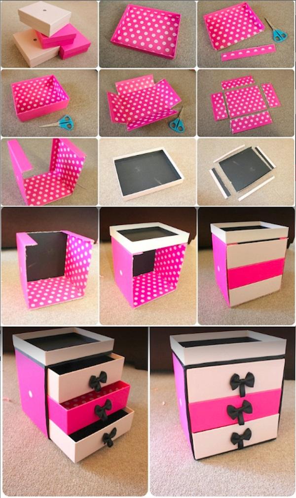 Можно сделать красивую многоэтажную шкатулку для вещичек вашей дочери2