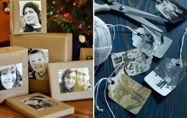 Распечатайте семейные фото и украсьте ими коробку