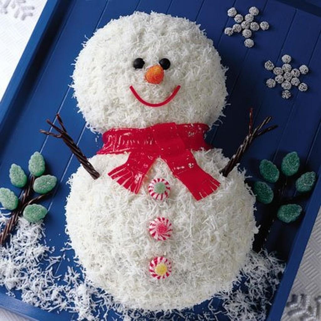 блюдо снеговик