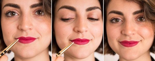 Карандаш-консилер поможет сделать губы более выразительными. Для этого стоит немного высветлить им зону над и под губами