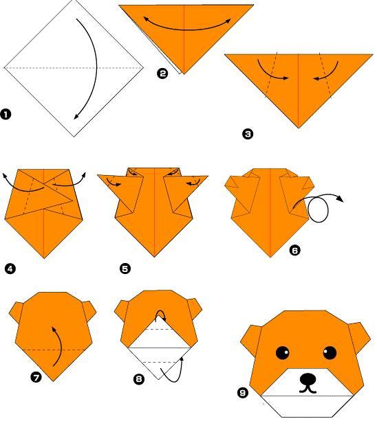 Оригами схемы простые