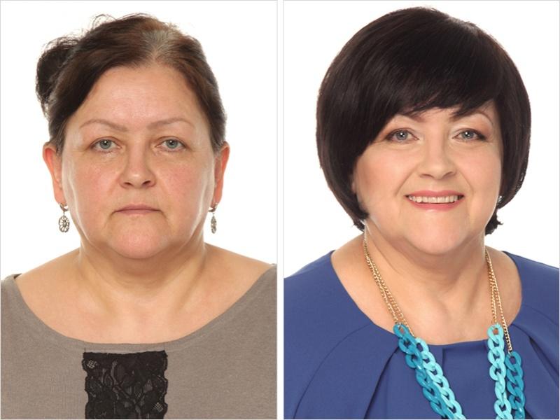 Изменение внешности фото до и после