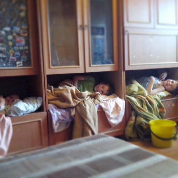 Дети лучше знают где им спать