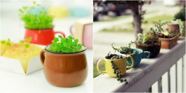 Кухонный декор, маленькие горшки для домашний растений2