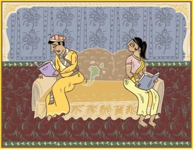Снижение стандартов. Поза, в которой муж портит воздух прямо при жене и даже не просит прощения