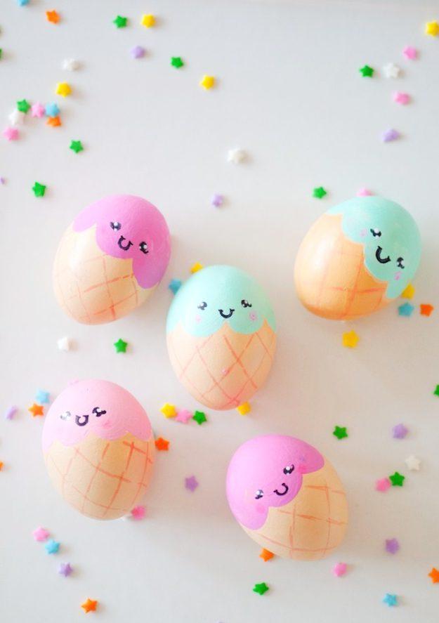 Пасхальные яйца в виде мороженых