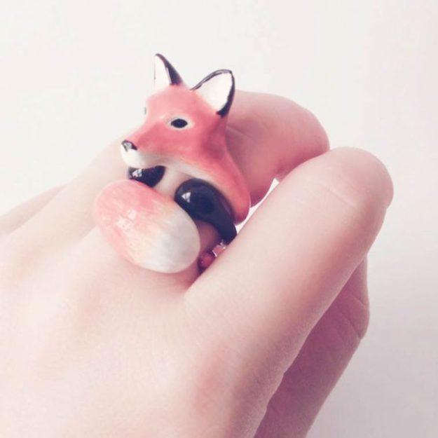 кольцо лисичка