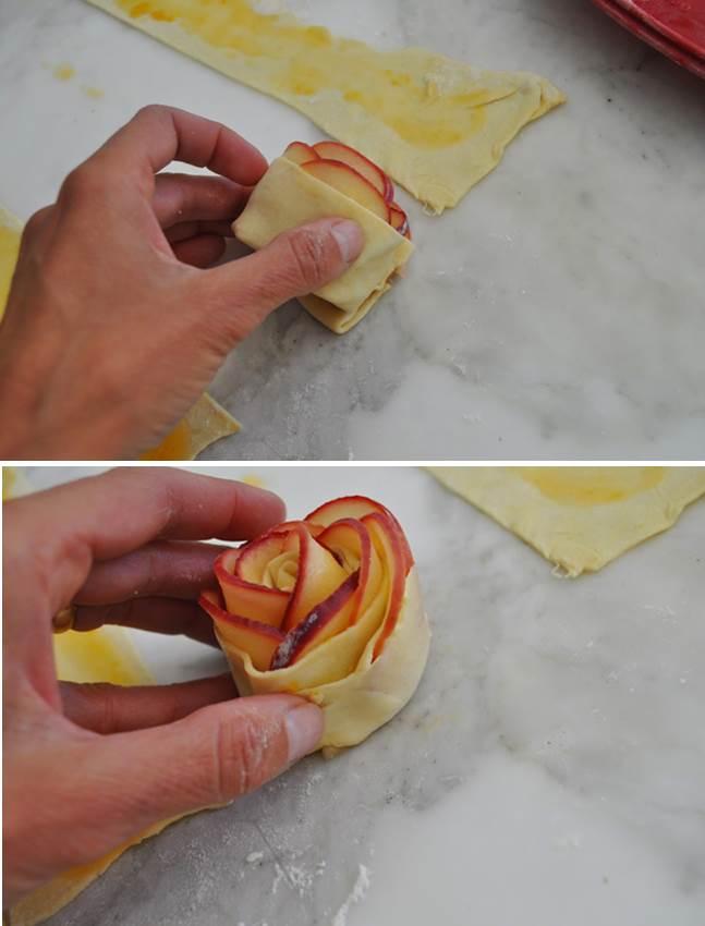 красивый яблочный десерт