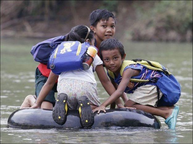 Филиппины. Вплавь на надутой автомобильной камере