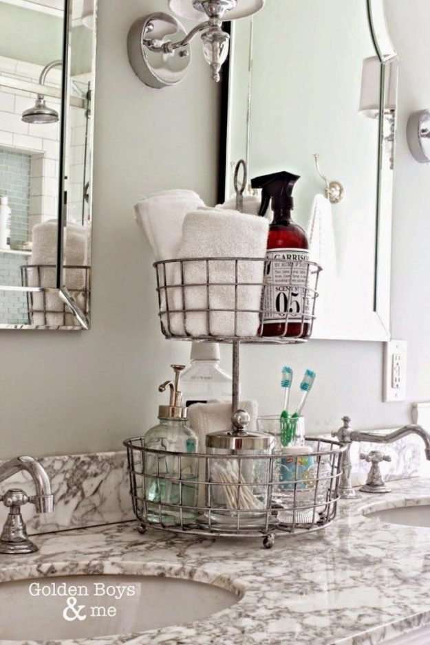 Кухонные стойки для фруктов и печенья сэкономят место, собрав в себе ванные принадлежности