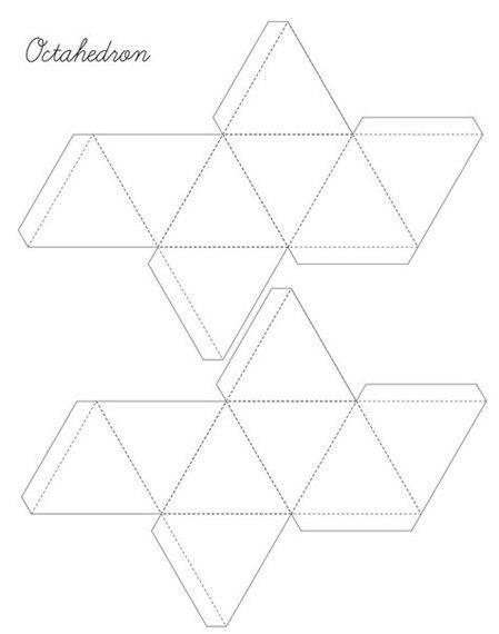 геометрические фигурки из бумаги