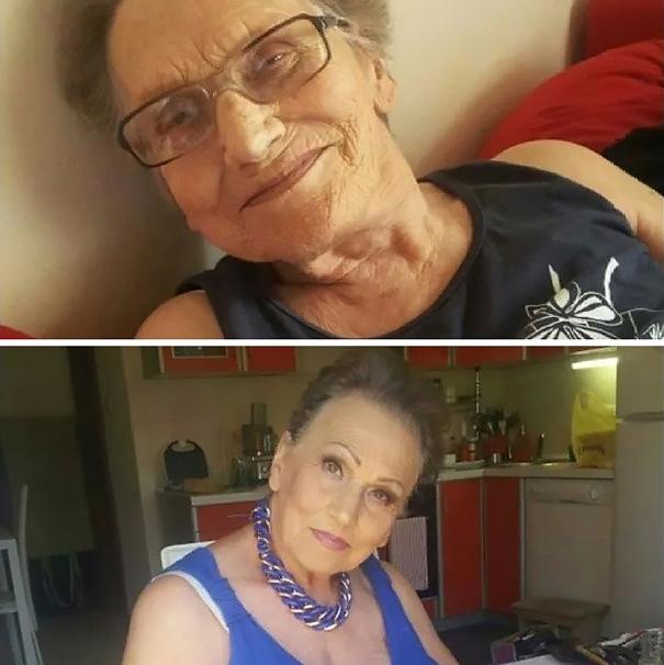красивая бабушка