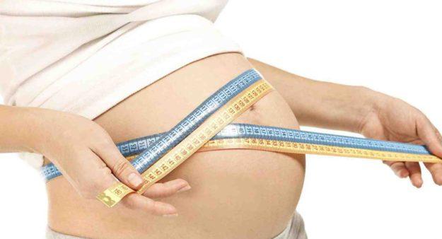 размер беременного живота